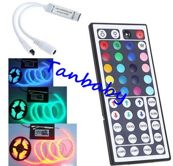 10pcs/lot  rgb led controller 44 Key IR Remote controller RGB LED Mini Controller wireless for LED Strip 5050 3528