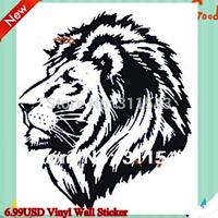 Black Lion Totem Vinyl Wall stickers Removable car sticker 50*60cm 3D Art Home decorative Wallpaper H8004 Free shipping