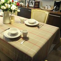 Fashion table cloth large fabric plaid yarn dyed dining table cloth tablecloth table cloth khaki
