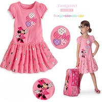 Fashion 2013 Girl Clothing Minnie Mouse Kids Girls' Dresses Princess Cupcake Baby Dress Children's Wear, Free Shipping!