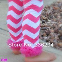 Free Shipping Lavender Chevron Zig Zag with Matching Ruffle Lace Leg Warmer Girls Chiffon