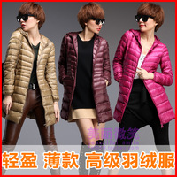 2013 with a hood thin women's medium-long down coat