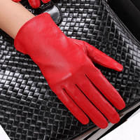 H lovers genuine leather gloves autumn and winter thin sheepskin gloves driving gloves