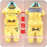 2013 spring male female child children's child clothing baby autumn set baby children clothes 0-1 - 2 - 3