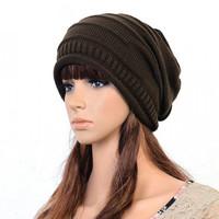10pcs/lot Unisex hat knitted Crochet Ski Hats winter Beanie hat cap headwrap