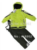 high -quality children windproof ski jacket+ski pant children winter snow suit outdoor wear kids ski waterproof sets