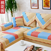 Extemporarily slip-resistant bow sofa cushion fabric cushion autumn and winter 100% cotton sofa cover sofa towel sofa cover