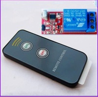 Free shipping,  Infrared remote control relay module / 2 key infrared remote control + receiver module
