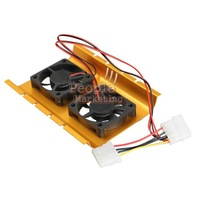 Dual Hard Driver Disk HDD Cooling Fan Desktop Cooler Radiator for Computer P4PM
