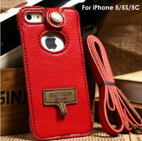 Angel Series handmade Cow Leather Case Pouch Cover with Strap For iphone5/5C/5S