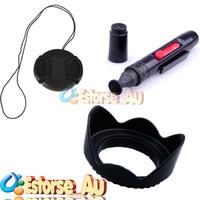 58mm Lens Cap Protection cover + 58mm Flower Lens Hood + Lens Cleaning Pen For Camera Canon Nikon