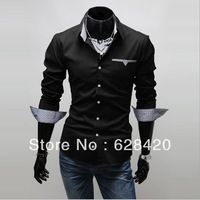 Hot sale Free Shipping Long Sleeve New Style Design Mens Shirts Casual Slim Fit Stylish Men Dress Shirts Cotton Men's Winter