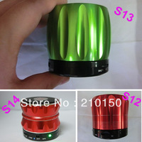 Free Ship 2013 New S12 / S13/ S14 mini bluetooth speaker HiFi Music player Answer with MIC For iPhone 5 4S ipad 3 4
