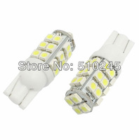 60x Promotional wholesale 50pcs T10 Car High Power 168 194 W5W White 28 SMD LED Wedge Light Bulb Lamp 12V Free shipping