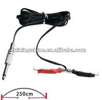 2013 hot sale long silicone tattoo machine clip cord