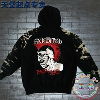 Hoody/Men/  Tie-dyeing Camouflage Metal Punk