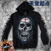 Hoody/Men/Black/Hip-hop Luminous Sweatshirt /Skull Pattern