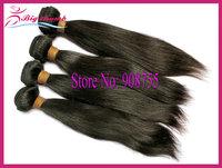 Luffy Hair 4pcs lot Unprocessed Brazilian virgin hair Natural Straight, 5A grade 100% human hair, can color and bleach,