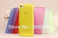 for new iphone 5c ultrathin case,clear color matte case 0.3mm,20pcs a lot free shipping