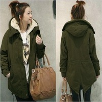 2013 women's loose fleece cotton-padded jacket plus size thickening wadded jacket outerwear