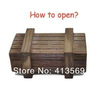 Wholesale Funny Magic Game Puzzle Wooden Box with Secret Drawer Toys Retro Wood Luban Lock Geek Toy Gift Small