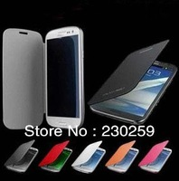 Flip Leather Case with battery back cover for Samsung GALAXY Premier I9260 free shipping