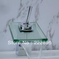 Free Shipping Brass Copper Chrome Bathroom Faucet Waterfall Mixer Sanitary Ware Tap Bathroom torneira bronze torneiras banheiro