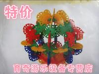 innovative items Large child snowflakes plastic insert blocks assembling toys desktop plastic