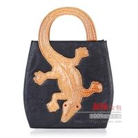 2013 women's handbag animal bags lizard gekkonidae quality tote shaping portable bag personality color block bag free shipping