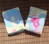 Infant plush cartoon thin child air conditioning blanket summer small 110 70cm