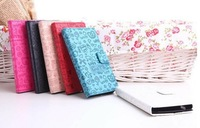 2013 NEW! 5color Lucky Girl Whole Protect Cover Case Fashion leather case  For Samsung Hercules T989  free shipping