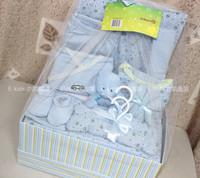 Children's clothing summer 2013 100% newborn cotton newborn baby clothes gift box 16 piece set