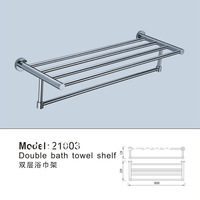Cheap Price Solid Brass Copper Chrome Bathroom Accessories Dual Layers Towel Shelf Holder Free Shipping