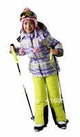 free shipping children windproof warm ski jackets+pant children winter snow suit girls outdoor wear children ski winter sets