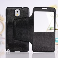 Newest Elegant Fashion Style Call ID Writing Window leather Filp Cover case for samsung galaxy note 3 N9000 Note III