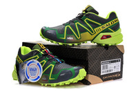 Factory sale. Original FREE Shipping 2013 NEW Mens SALOMON Hiking Running Shoes Speed Cross 3 US 11 45 Trail Runner HOT Sale!