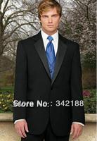 Free Shipping!Top sell/Custom Made Black cheap Wedding bridegroom groomsmen wear Tuxedo Groom dress Men's Suit Business man Suit