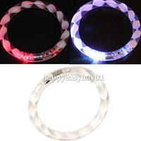 Transparent Texture LED Flashing Color Changing Bracelet Glow Bracelet H1E1