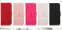 For OPPO Windows Phone R803 R805 Cute Magic Girl Flip Leather Credit Card Cover,black,white,red,pink,rose Free Shipping