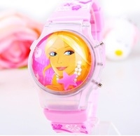 Hot Sale 1PC Cartoon Princess Watch Fashion Clamshell Children Kids Students Girls Silicone Digital Watches Clock Free Shipping