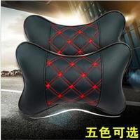 Car seat headrest car leather bone pillow four seasons general neck pillow kaozhen