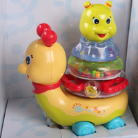 electric flashing The little snail,music Jenga,baby early education toys