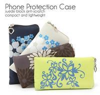 10 pieces/Lot new fashion wallet Mobile Phone Bags simple flower print phone case wallet woman handbag PC001