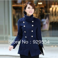 Free Shipping In 2013 The New Europe And The United States Foreign Trade Fine Coat Leisure Cloth Coat Lady Trench Coat
