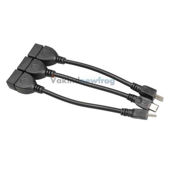 3Pcs Micro USB Host OTG Cable for Samsung Galaxy S3 HTC MP3 MP4 Tablet PC V3NF(China (Mainland))