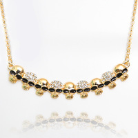 Free shipping Wholesale -2013 European popular personality skull alloy necklace fashion jewelry female models