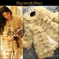 Free shipping Fur medium-long female 2013 wool berber fleece fur coat