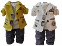 1pcs,Children Boys Clothing Set 3 pcs,Baby Autumn Casual Set CartoonSuit, Coat+T shirt+Trousers for Boys 1Y to 5Y,Retail