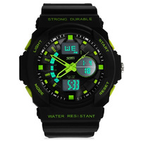 Free shipping Dual display watches male outside hiking sport multifunctional electronic watch male waterproof