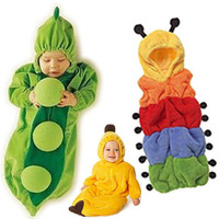 3pcs/lot, Baby Sleeping Bag, Pea Sleeping Bag Baby Romper Style,Caterpillar Worm Kids Bedding Set,Polar Fleece, for All Seasons